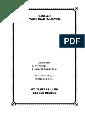 Makalah Tradisi Islam Nusantara