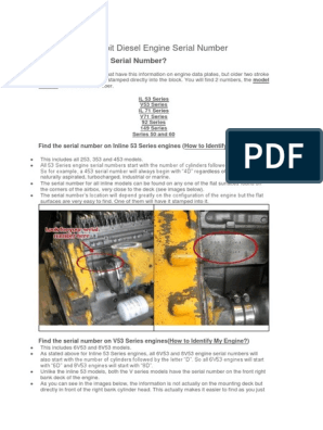 Finding Your Detroit Diesel Engine Serial Number | Cylinder (Engine