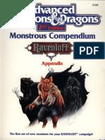 2122 - Monstrous Compendium [Ravenloft]