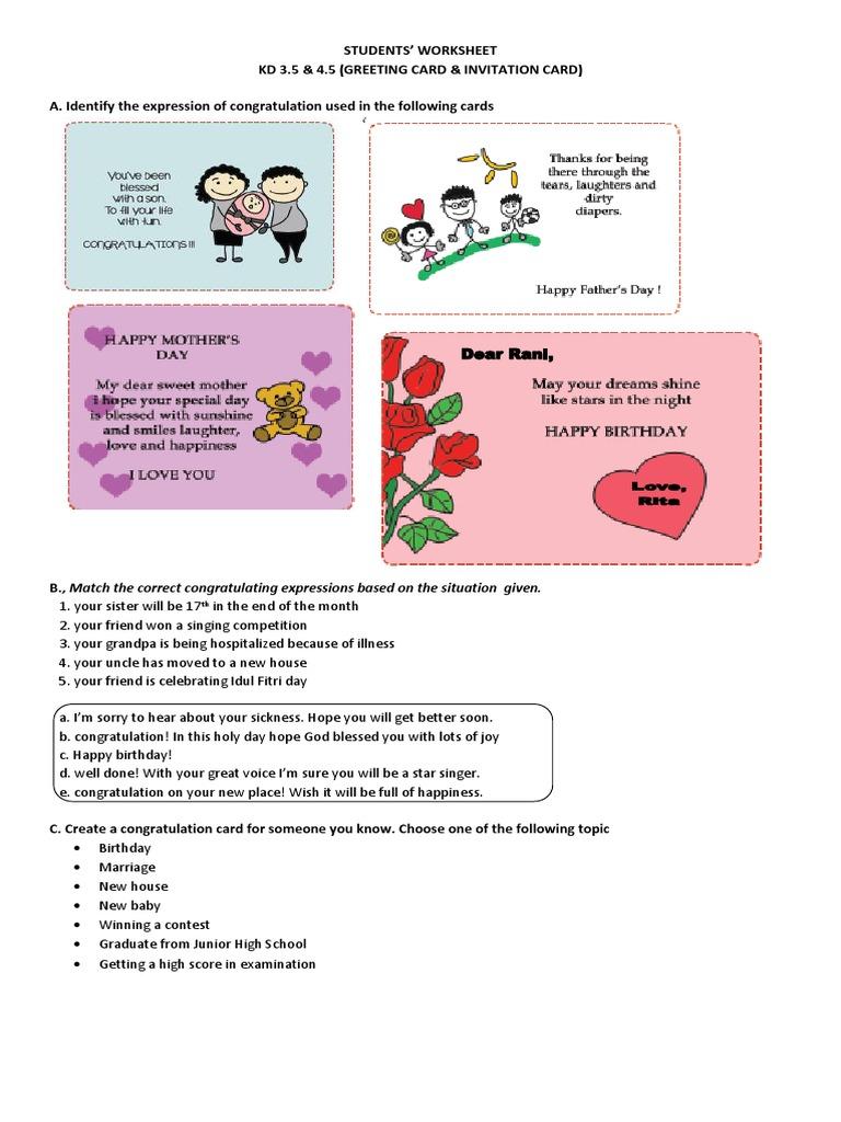 Worksheet greeting card stopboris Images