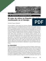 El Robo de Niños en España. Un Delito Continuado
