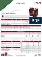 T875 Trojan Data Sheets