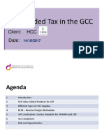 Value Added Tax in the GCC