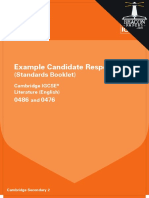 0486 and 0476 Literature (English) Example Candidate Responses