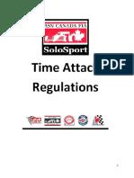 2015 ASN Time Attack Regulations