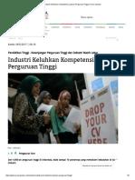 Industri Keluhkan Kompetensi Lulusan Perguruan Tinggi _ Koran Jakarta