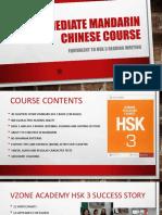 Intermediate MANDARIN Chinese COURSE