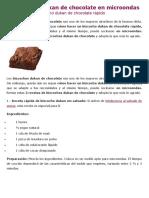 3 Bizcochos Dukan de Chocolate en Microondas