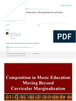 Composition in Music Education Moving Beyond Curricular Marginalization