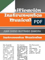 Clasificación Instrumentos Musicales