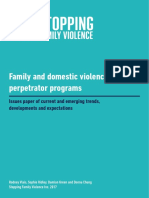 FDV Perpetrator Programs Issues Paper