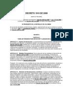 Decreto 1910 de 2009