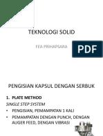 Teknologi Solid_ Pengisian Kapsul