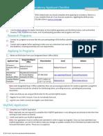2018 ERAS Residency Process Checklist
