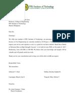 BFSS Invitation Letter