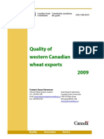 Quality Western Canadian Wheat Exports