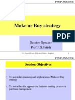 Session 7 - Make or Buy Strategy