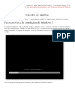Guia de Instalacion de Windows 7