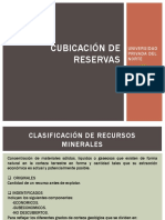 Cubicacion de Reservas