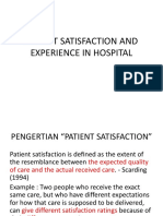 Patient Satisfaction and Experience in Hospital
