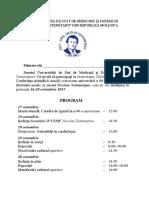 Program Invitaţie Conferinta Stiintifica Anuala 2017 Versiunea 2 1