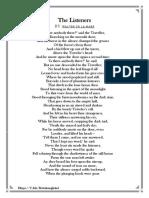 The Listeners by Walter de La Mare- third lec.pdf