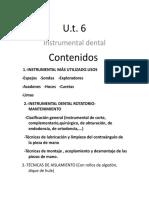 U.T 6. Instrumental Dental.