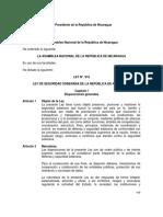Ley No 919 Ley de Seguridad Soberana-dic102015Final