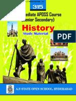 Andhra Pradesh AP Open School Intermediate History Study Material Textbook English Medium PDF