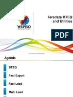 Teradata BTEQ and Utilities.pptx