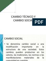 Cambio Técnico y Cambio Social
