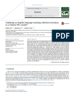 Validating an English Language Teaching Reflection Inventory in a Chinese EFL Context