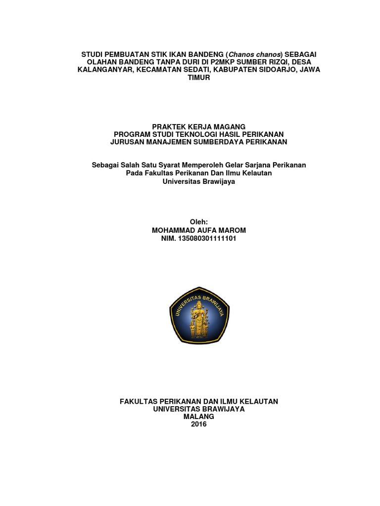 Studi Pembuatan Stik Ikan Bandeng New