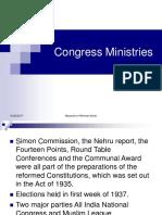 Congress Ministries