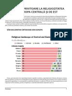 Sondaj Religia în România şi Europa 2017 - Credinţa Românilor în revista Învierea