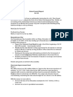 school council report oct 2017