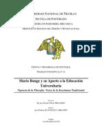 Mario Bunge y Su Aporte a La Educación Universitaria