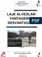 Laje Alveolar- Vantagens e Desvantagens
