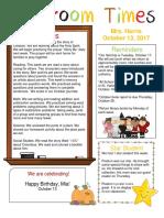 october 13 newsletter