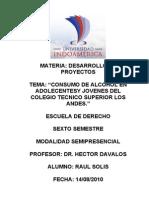 Proyecto Consumo Alcohol