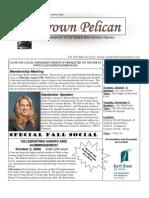 September-October 2009 Brown Pelican Newsletter Coastal Bend Audubon Society