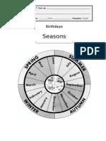 Birthdays - Informative Sheet II