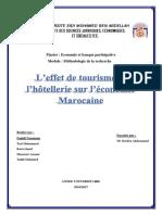 l Effet Du Tourisme Et l Hotellerie Sur l Economie Marocaine