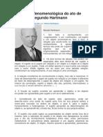 Análise Fenomenológica Hartmann
