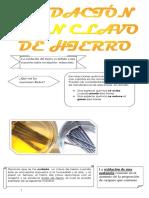 Oxidacion de Un Clavo de hierro