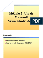 2.- Uso de Microsoft Visual Studio .NET.ppt