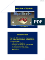Introduction of EpiInfo