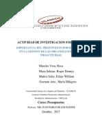 Actividad N°05 Actividad de Investigación Formativa I Unidad PRESUPUESTOS
