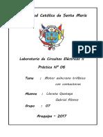 Informe eléctricos II N°06