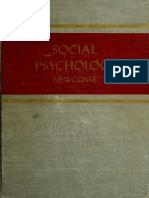 Social Psychology - Newcomb